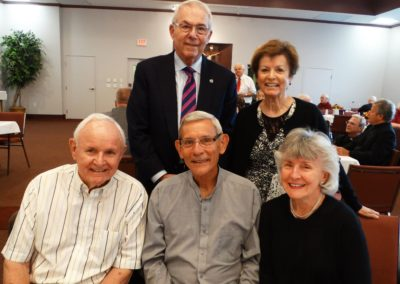 Fr. Denny Kinderman, C.PP.S., at the anniversary celebration with family members.