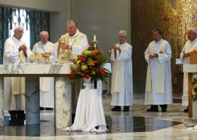Fr. Ken Schroeder, C.PP.S., presides at a liturgy on St. Gaspar's Feast Day, at St. Charles Center.