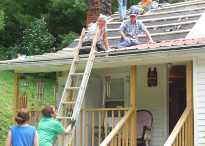 Volunteers from St. Michael, Kalida, Ohio, on an Appalachian mission trip.