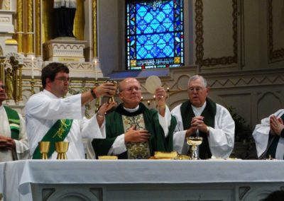 Deacon Matt Keller during his first Mass.