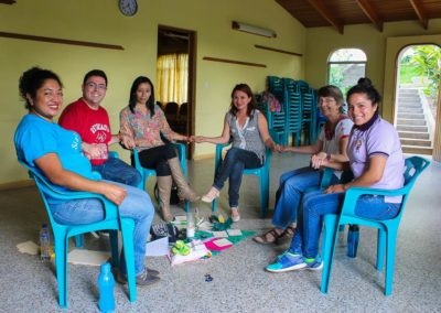 Br. Juan Acuña, C.PP.S., in a circle at the Sangre de Cristo Health Project in Guatemala.