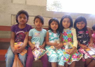 Christmas party at the nutrition project in La Labor, Guatemala.