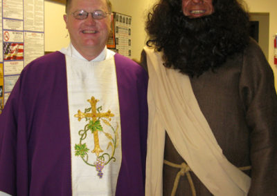 "Fr. Rick Nieberding, C.PP.S., with ""St. Paul"" at St. Augustine Parish in Minster, Ohio."