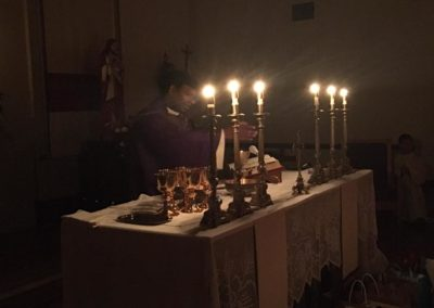 Easter vigil at St. Edward, Newark, Calif., with Fr. Jayababu Nuthulapati, C.PP.S.