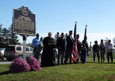 Fr. David Hoying, C.PP.S., archivist of the Cincinnati Province, was the keynote speaker at the historical marker dedication.