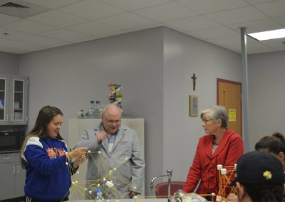 Br. Ben Basile, C.PP.S., in a science lab at CCSJ.