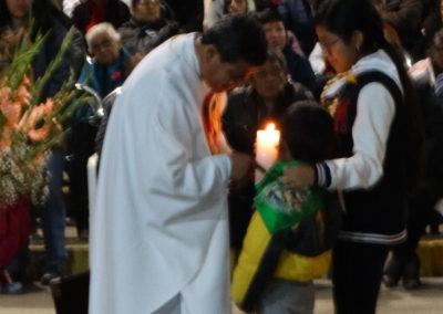 Fr. Maximo Mesia, C.PP.S., at the offetory at Nuestra Senora de la Luz, Lima, Peru.