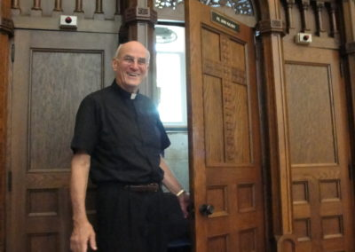 Fr. John Kalicky, C.PP.S., at St. John the Baptist Church in Whiting, Ind.