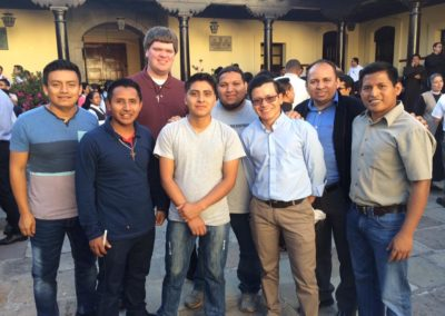 Candidate Greg Evers with members and seminarians in Guatemala.