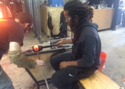 Glass blowing demonstration at PBMR.