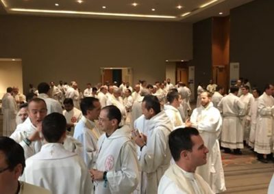Priests gather for the SEEK closing Mass.