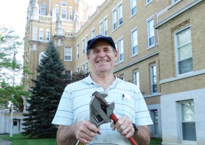 Mike Hemmelgarn, who helps maintain St. Charles Center.