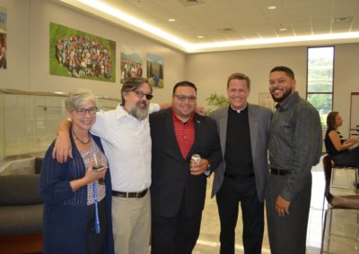 Fr. Kevin Scalf, C.PP.S. (second from right) at a CCSJ event.