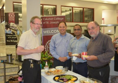 Br. Jerry Schwieterman, C.PP.S., far left, at a CCSJ event.