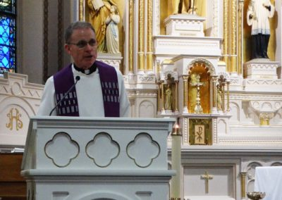 Fr. Dave Kelly, C.PP.S., of the Precious Blood Ministry of Reconciliation, preaching at St. John the Baptist Church in Maria Stein, Ohio.