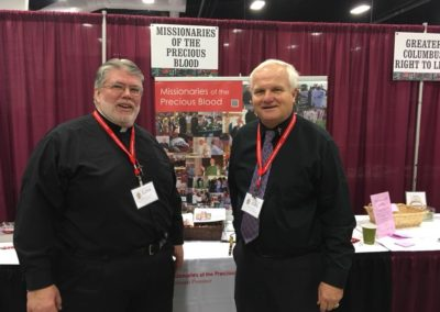 Br. Tom Bohman, C.PP.S., and Fr. Steve Dos Santos, C.PP.S., at Catholic Men's Conference in Columbus.