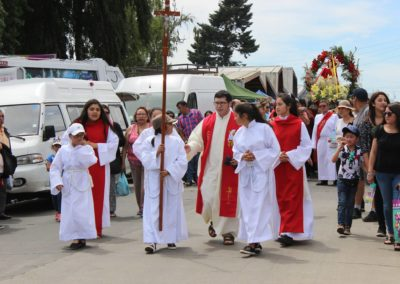 Fr. Diego Gallardo, C.PP.S., during a procession on the Feast of St. Sebastian in Purranque, Chile.