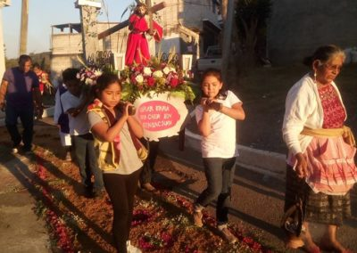 Parishioners during a procession to Br. St. Peter chapel in El Encino, Guatemala.