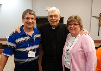 Newly covenanted Companions Pat and Diane Timmerman of Minster, Ohio, with Pat's uncle, Fr. Vince Hoying, C.PP.S.