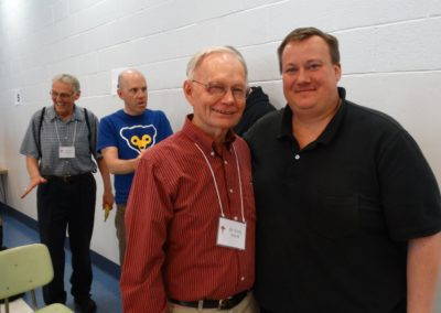 Br. Jerry Schulte, C.PP.S., who was one of Fr. Jeff Kirch's formators, poses with the newly elected provincial director.
