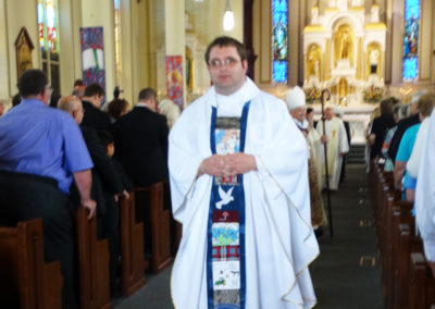 Newly ordained Fr. Matthew Keller, C.PP.S., after the ordination Mass.