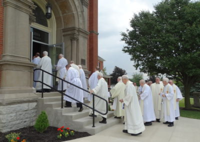 Missionaries of the Precious Blood ready to take their place in the procession before Mass.9