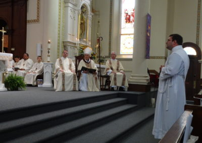 Matthew Keller, C.PP.S., is called forth and presented to the bishop.