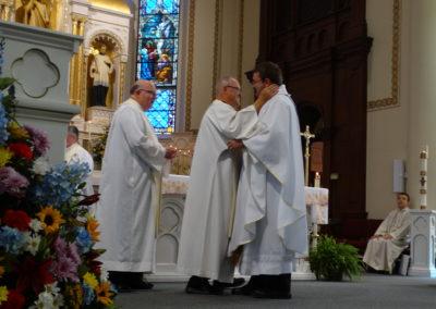 Fr. Ken Pleiman, C.PP.S., embraces Fr. Matt.