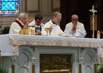 Fr. Larry Hemmelgarn, C.PP.S., during the Eucharistic Celebration.