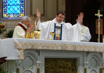 Fr. Matt during the Eucharistic Celebration.