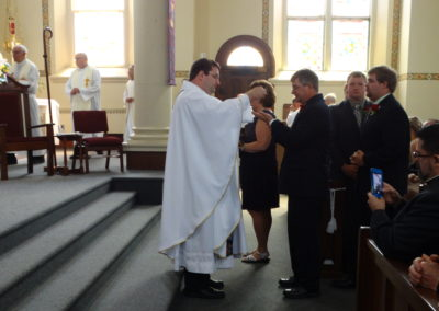 Fr. Matt during communion.