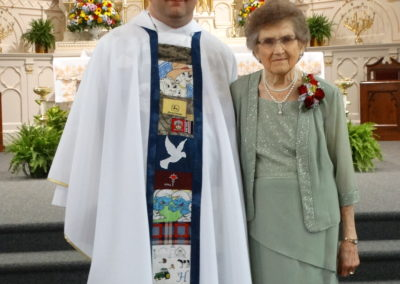 Fr. Matthew Keller and his grandmother, Mary Alice Ahrns.