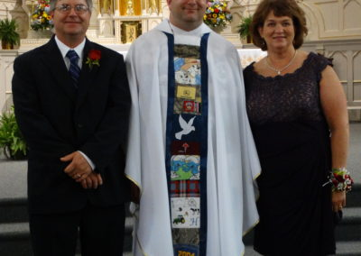 Fr. Matthew Keller and his parents, Paul and Carol.