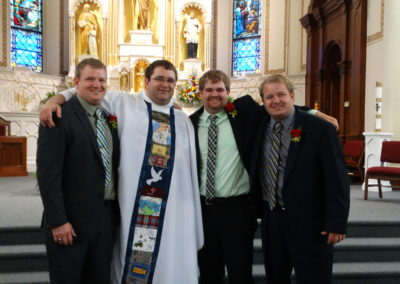 Fr. Matthew Keller and his brothers, Josh, Dylan and Scott.