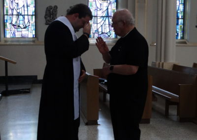 And Fr. Charles blesses Fr. Matt right back.