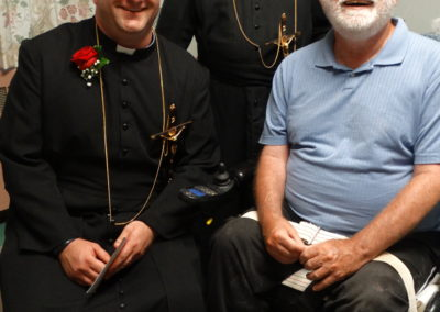 Fr. Matthew Keller; Br. Theophane Woodalll, C.PP.S.; and Br. Paul Chase, C.PP.S.