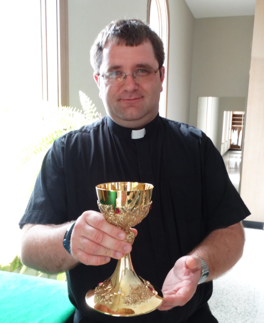 Fr. Matt Returns with his Chalice