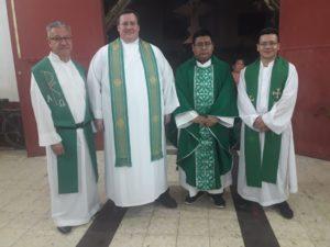 Guatemala leadership Fr. Alverez, Fr. Kirch, Fr. Hernandez, Fr. Diaz