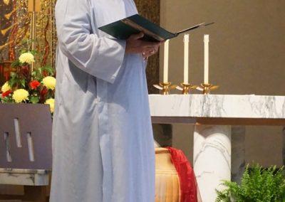 Brother Tom Bohman, C.PP.S., presides at Morning Prayer.